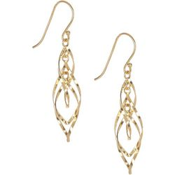 Signature Twisted Oval Gold Tone Earrings