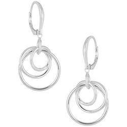 Signature Sterling Silver Triple Ring Drop Earring