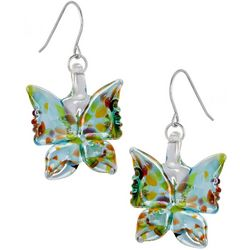 Signature Sterling & Glass Butterfly Drop Earrings