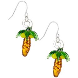 Signature Sterling & Glass Palm Tree Earrings