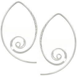 Signature Sterling Silver Swirl Threader Earring