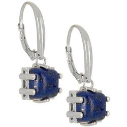 Signature Blue Lapis Square Drop Earrings