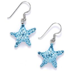 Signature Blue Crystal Starfish Earrings