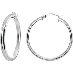 Signature 25MM Sterling Half Round Hoop Earrings