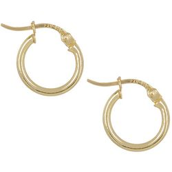 Signature Gold Plated 12 MM Hoop Earrings