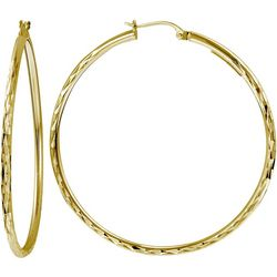 Signature 45MM Gold Plate DC Hoop Earrings