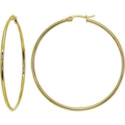 Signature 45MM Gold Plate Tubular Hoop Earrings