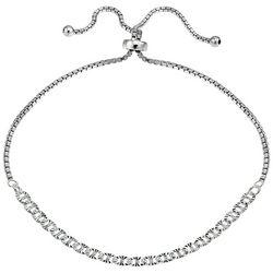 Signature Sterling Silver Oval Link Adjustable Bracelet