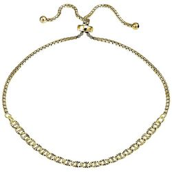 Signature Gold Tone DC Double Open Link Slider Bracelet