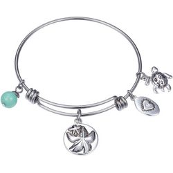 Footnotes Wish Upon A Starfish Charm Bangle Bracelet