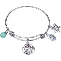 Footnotes Wish Upon A Starfish Charm Bangle Bracelet