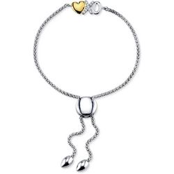 Follow Your Heart XO & Heart Charm Slider Bracelet