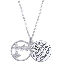 Footnotes Mother Daughter Friends Forever Pendant Necklace