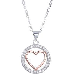 Footnotes Rhinestone Grandma Fills My Heart Pendant Necklace