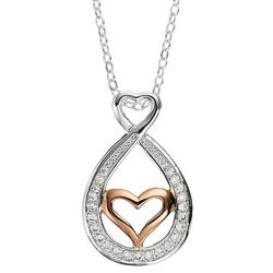 Footnotes Mother Daughter Heart & Infinity Pendant Necklace
