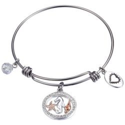 Footnotes Beach Days Seahorse Charm Bangle Bracelet