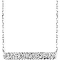 Shine Crystal Elements Pave Bar Necklace
