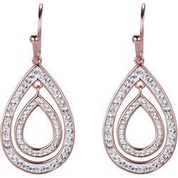 Shine Crystal Elements Double Teardrop Earrings