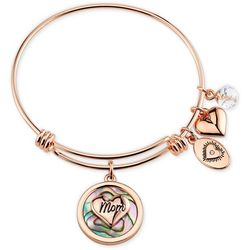 Footnotes Forever My Mother & Friend Charm Bangle Bracelet
