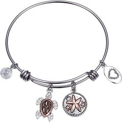 Footnotes Life's A Beach Ride The Waves Bangle Bracelet