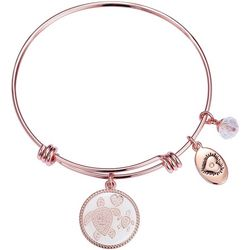 Footnotes Sea Turtle Mother & Daughter Charm Bangle Bracelet