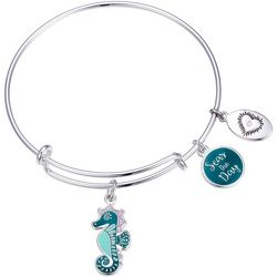 Footnotes Seahorse Seas The Day Charm Bangle Bracelet
