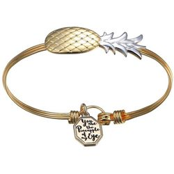 Footnotes Pineapple Of My Eye Charm Bangle Bracelet