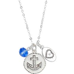 Footnotes Love Anchor Pendant Charm Necklace