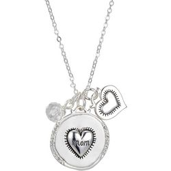 Footnotes Mom Heart Pendant Charm Necklace