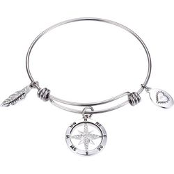 Footnotes Life A Journey Charm Bangle