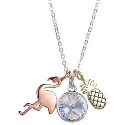 Footnotes Flamingo & Pineapple Necklace