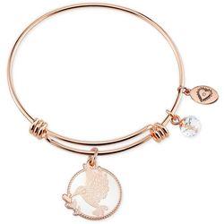 Footnotes Pink Gold Tone Free Spirit Bird Bangle Bracelet