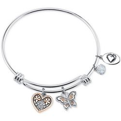 Footnotes Sisters Blossom Inspirational Bangle Bracelet
