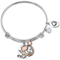 Footnotes Mermaid Vibes Two Tone Charm Bangle Bracelet