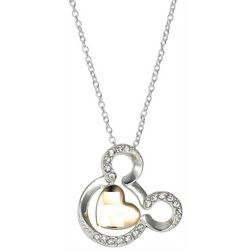 Disney Two Tone Celebrating 90 Mickey Face Necklace