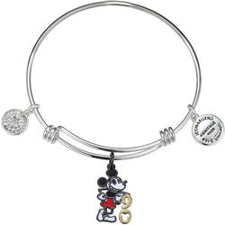 Disney Mickey Mouse 90 Celebration Charm Bangle Bracelet