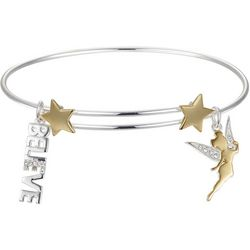 Disney Tinker Bell Believe Charm Bangle Bracelet