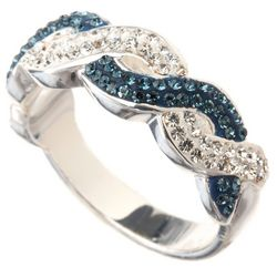 Shine Montana Blue Crystal Elements Twist Ring