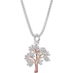 Shine Two Tone Crystal Elements Family Tree Necklace