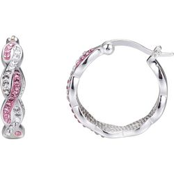 Shine Crystal Elements Twisted Hoop Earrings