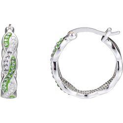 Shine Crystal Elements Twisted Hoop Earrings