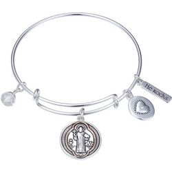Gratitude & Grace Heart In Heaven Bangle Bracelet