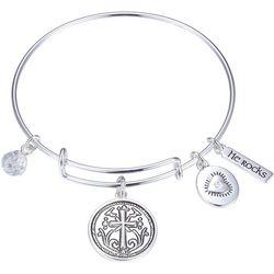 Gratitude & Grace Faith Family Friends Bangle Bracelet