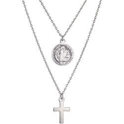 Gratitude & Grace Saint Benedict Double Pendant Necklace