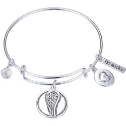 Gratitude & Grace Angels Watch Over Bangle Bracelet