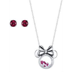 Disney Minnie Mouse Pendant Necklace & Earring Set