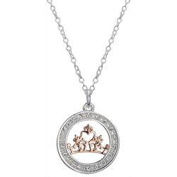 Disney Tiara Believe In Your Dreams Pendant Necklace