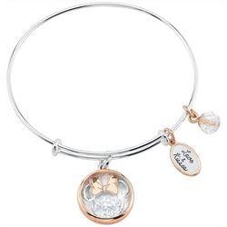 Disney Love & Kisses Minnie Glass Charm Bangle