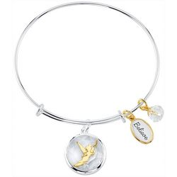 Disney Tinker Bell Believe Glass Charm Bangle