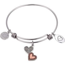 Footnotes Sister Heart To Heart Charm Bangle Bracelet